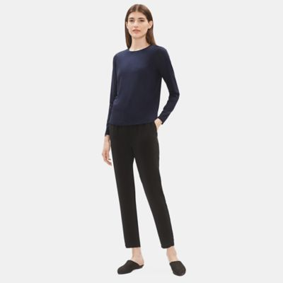 System Lightweight Viscose Jersey Crew Neck Top