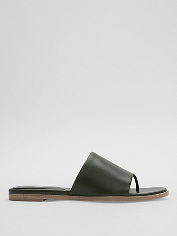 Edge Nappa Leather Slide
