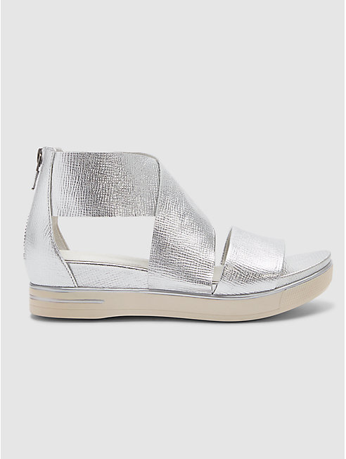 Sport Sneaker Sandal in Metallic Leather