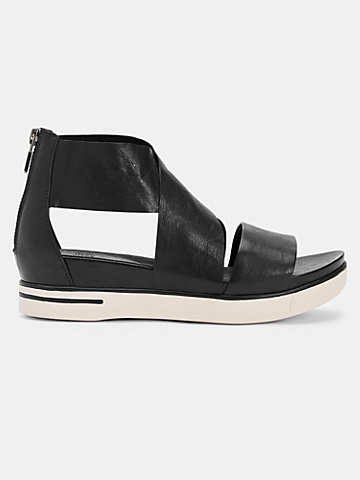 Sport Tumbled Leather Sneaker Sandal