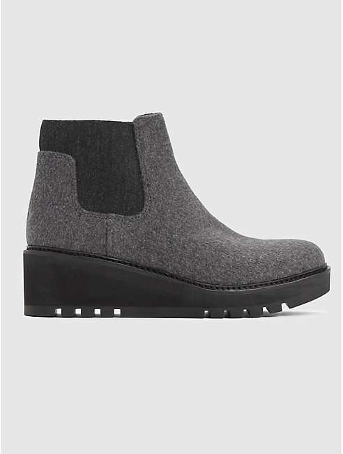 Chelsea Wedge Bootie in Fleece