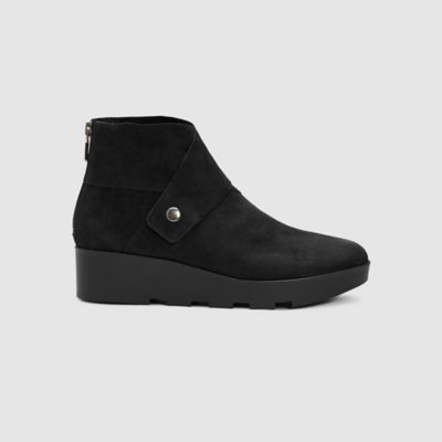Tread Tumbled Nubuck Wedge Bootie