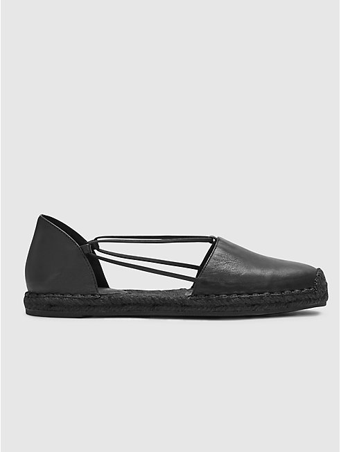 Lee Washed Leather Espadrille
