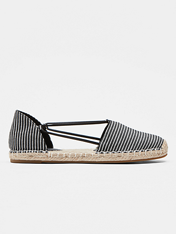 Lee Striped Canvas Espadrille Flat
