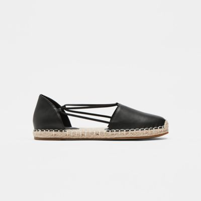 Lee Washed Leather Espadrille Flat
