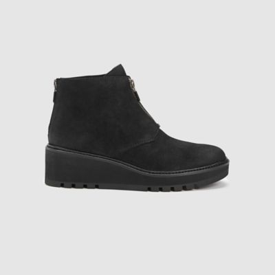 Casey Tumbled Nubuck Wedge Bootie