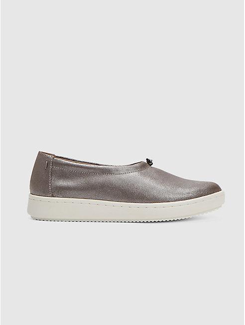 Sydney Sneaker in Metallic Suede