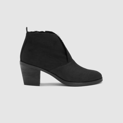 Murphy Intaglio Leather Bootie