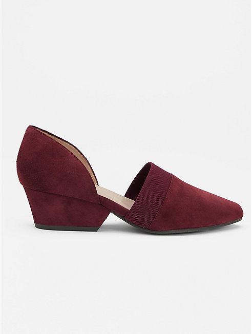 Hilly Suede d'Orsay Pump