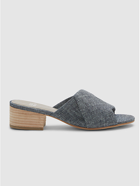 Ruche Slide in Chambray