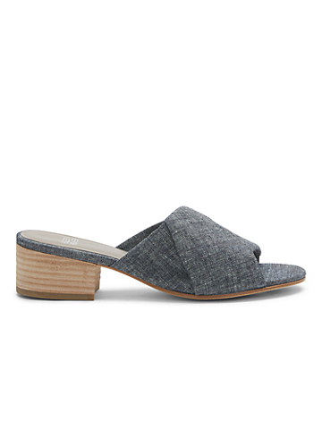 Ruche Chambray Slide