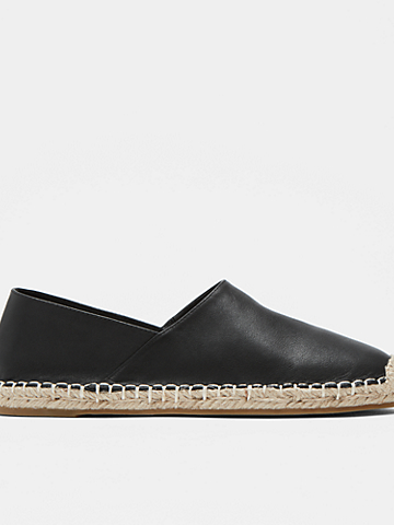 Myth Leather Espadrille Flat