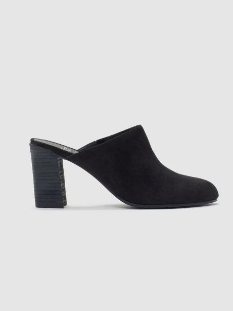 Eileen Fisher Prana Suede Block Heel Mules 3kP8t