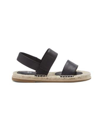 Max Washed Leather Espadrille Sandal