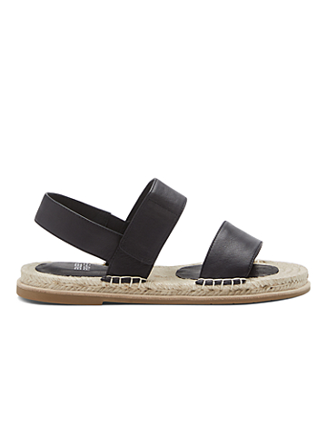 Max Washed Leather Espadrille Sandal