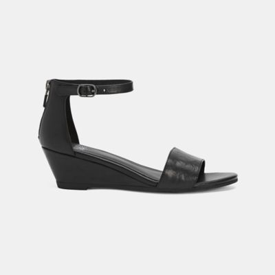 Mara Tumbled Leather Wedge Sandal