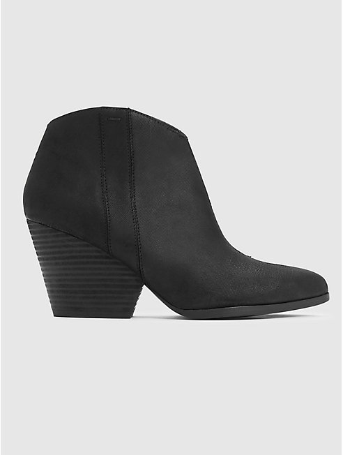 Trail Intaglio Leather Bootie