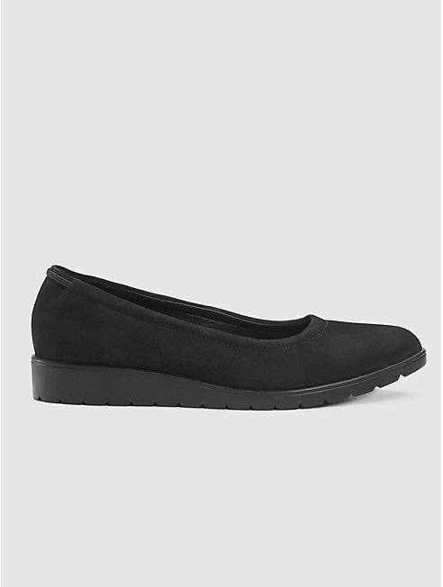 Honest Nubuck Ballet Wedge