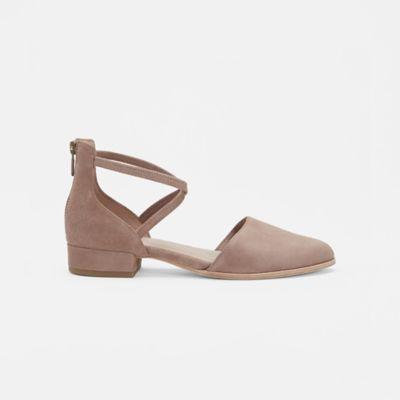 Lyton Suede Ankle Strap Flat