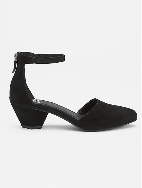 Just Ankle-Strap Shoe in Suede