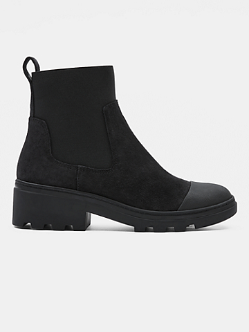 Teddy Waterproof Suede Bootie