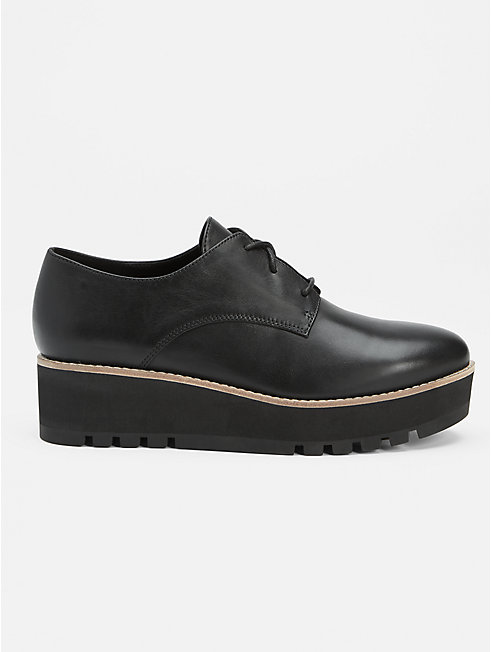 Eddy Oxford Wedge in Smooth Leather