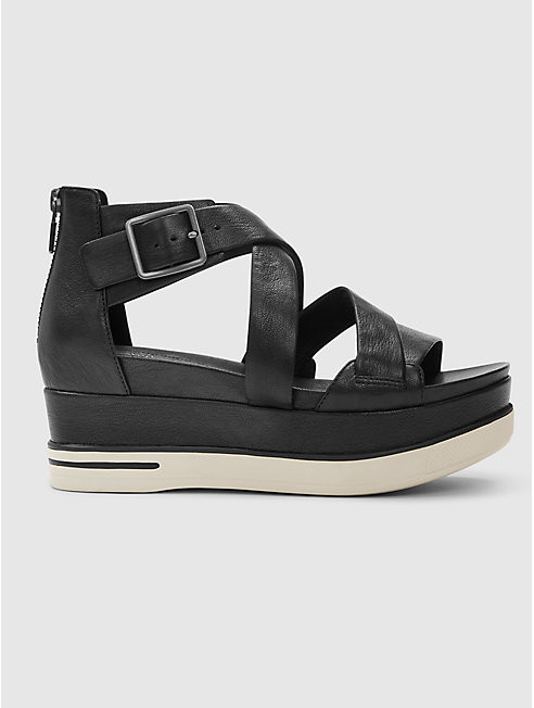 Boost Washed Leather Platform Sandal