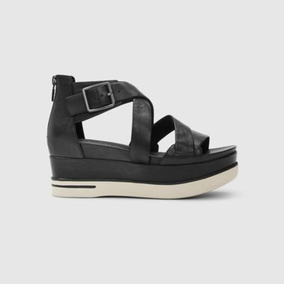 Boost Washed Leather Platform Sandal