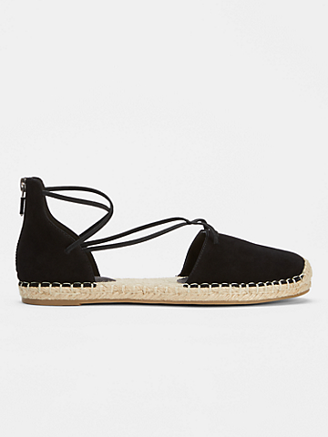 Lace Leather Espadrille