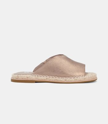 Milly Metallic Suede Espadrille Sandal