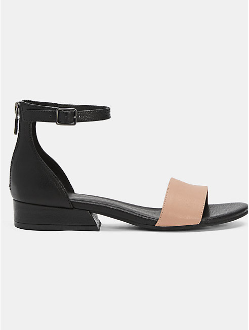 Elie Tumbled Leather Sandal