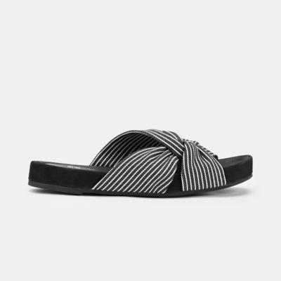 Pal Canvas Stripe Slide