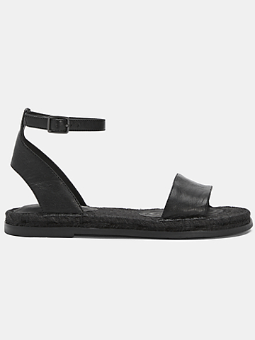 Mike Tumbled Leather Espadrille Sandal