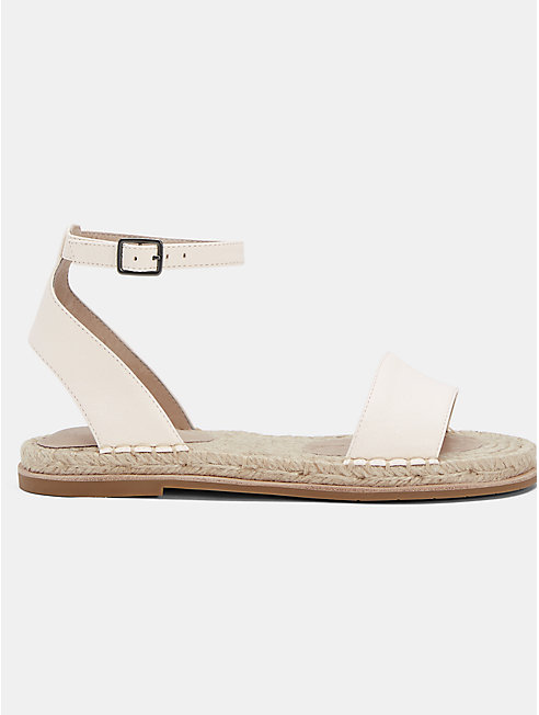 Mike Tumbled Leather Espadrille Sandal