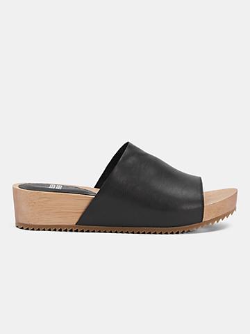 Minnie Sandal With Wood Platform