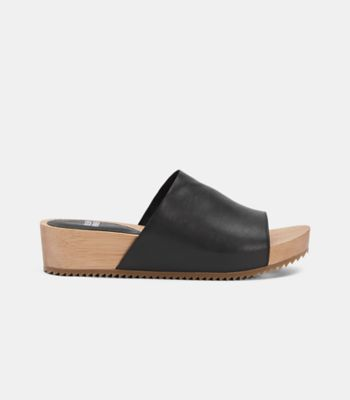 Minnie Sandal With Wood Platform
