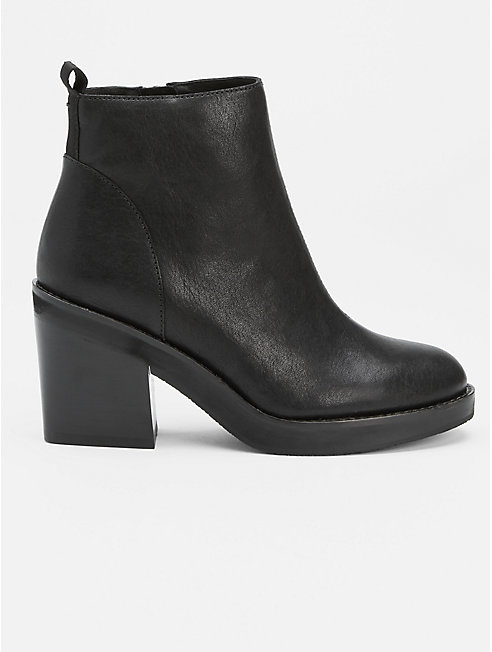 Ozma Leather Platform Bootie