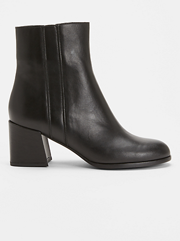 Tris Leather Bootie