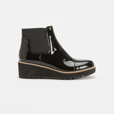 Chelsea Wedge Patent Leather Bootie