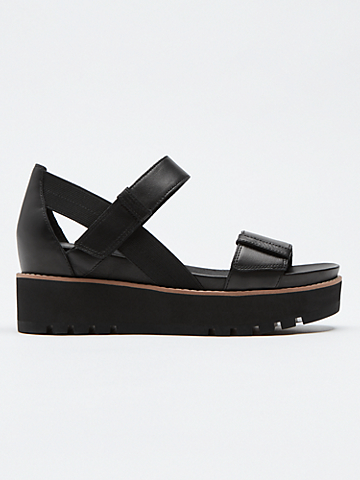 Luck Smooth Leather Wedge Sandal