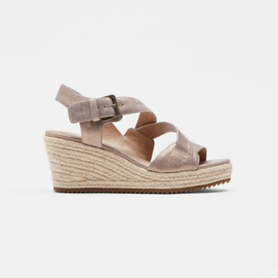Beckon Metallic Suede Espadrille Wedge