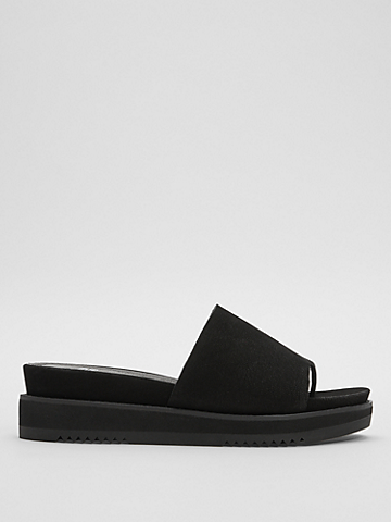 Touch Tumbled Nubuck Leather Flatform Sandal