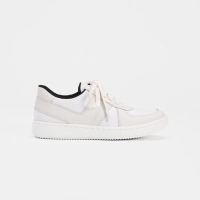 Trainer Leather & Canvas Sneaker
