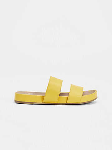 Deed Smooth Leather Slide Sandal