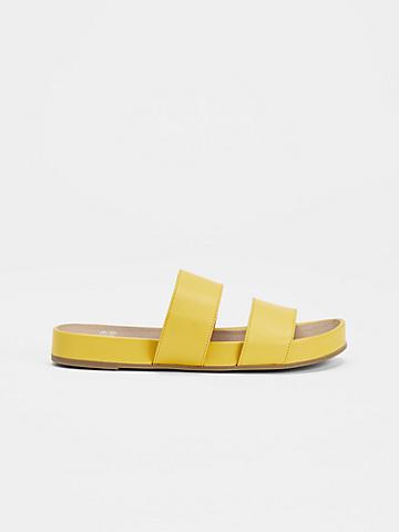 Deed Smooth Leather Slide Sandal