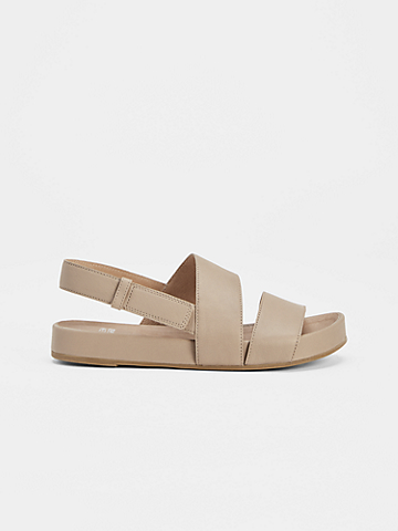 Curve Tumbled Leather Sandal