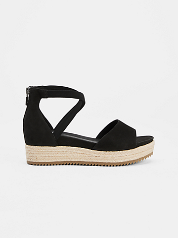 Island Tumbled Nubuck Wedge Sandal