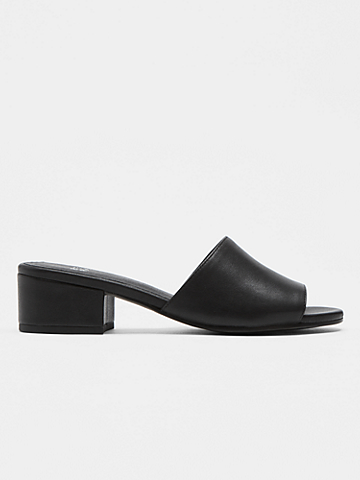 Tea Leather Slide Sandal