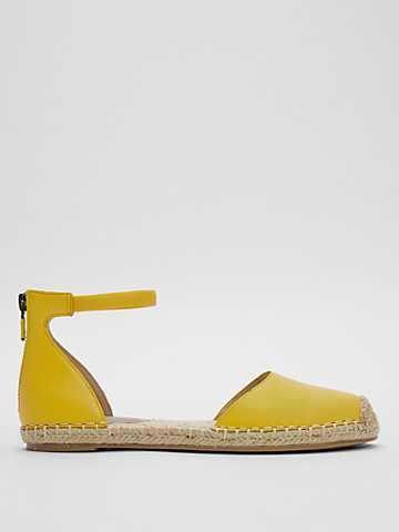 Lala Nappa Leather Espadrille Flat