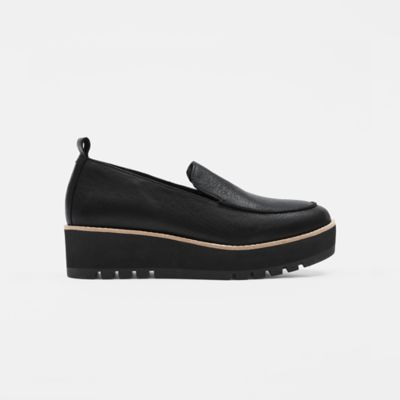 Ells Smooth Leather Loafer Wedge